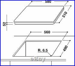 Whirlpool Kochfeld Induktion autark Einbau 60cm silber grau Touch Booster weiß