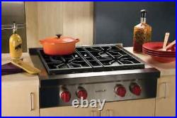 Wolf 30 Pro-Style Gas Rangetop With 4 Dual-Stacked Sealed Burners SRT304LP