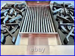 Wolf 36 inch Pro-Style Gas Rangetop Model RT364C with4 Brass Open Burners