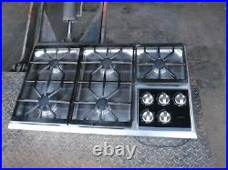 Wolf 5 Burner Gas Cooktop Stainless Steel CT36G/S 36 with downdraft and contro