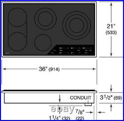 Wolf CE365TS 36 Electric Smoothtop Style Cooktop With 5 Elements 240 Volts