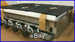 Wolf CG365CS 36 Gas Cooktop 5 Sealed Burners withFront Controls Stainless Steel