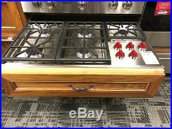 Wolf CG365PS 36 Inch Professional Gas Cooktop with 5 Dual-Stacked Sealed Burners