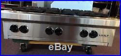 Wolf RT366 36 Pro-Style Gas Rangetop Stainless Steel