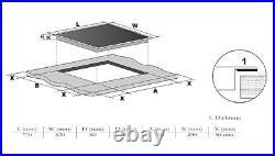 Wolkenstein Induktionskochfeld 80cm autark 2 Flexzonen 5 Felder BBQ Slider NEU