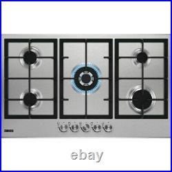 Zanussi ZGG96524XX 90cm Five Burner Stainless Steel Gas Hob + 1 Year Warranty